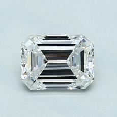 0.91-Carat Emerald Diamond Very Good E VVS1