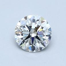 0.80-Carat Round Diamond Ideal F VS2