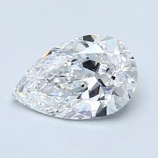 1.08-Carat Pear Diamond Very Good D VVS2