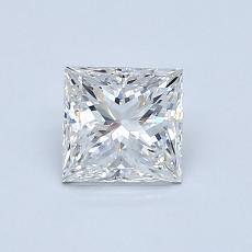 0,80 Carat Princesse Diamond Très bonne F VS1