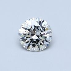 0,50-Carat Round Diamond Ideal J VVS2