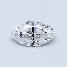 0.50-Carat Marquise Diamond Very Good D VS1