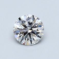 0.71-Carat Round Diamond Ideal I VS1