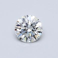 0.50-Carat Round Diamond Ideal E VS1
