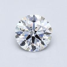 0.75 Carat 圆形 Diamond 理想 D VVS2