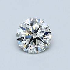 0.61 Carat ラウンド Diamond アイデアル I VS2