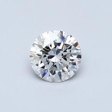 0.50 Carat 圓形 Diamond 理想 D VS2