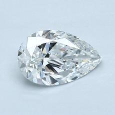 推荐宝石 4:0.75 克拉梨形切割钻石