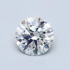 0,75-Carat Round Diamond Ideal G VS2