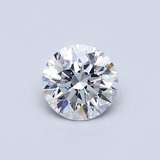 0.53 Carat 圓形 Diamond 理想 D VVS1