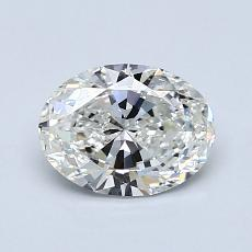 0.90-Carat Oval Diamond Very Good H VS1