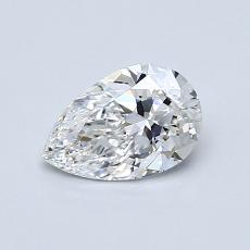 0.60-Carat Pear Diamond Very Good F IF