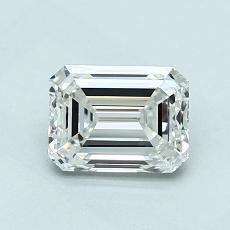 1.01-Carat Emerald Diamond Very Good H IF