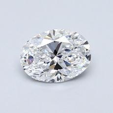 0,72 Carat Ovalado Diamond Muy buena D IF