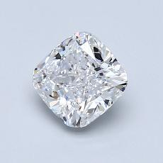 1.01-Carat Cushion Diamond Very Good D VVS1