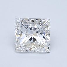 1.00-Carat Princess Diamond Very Good E SI2