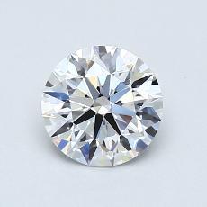 0,81 Carat Rond Diamond Idéale D VVS2