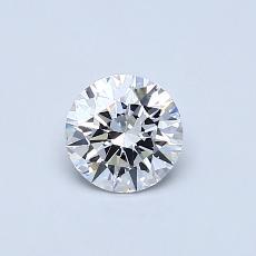 0.52 Carat 圆形 Diamond 理想 D FL