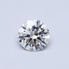 0,50-Carat Round Diamond Ideal E SI1