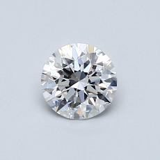 0.50 Carat 圆形 Diamond 理想 D VVS1