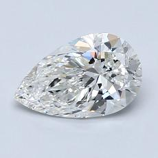 1,01-Carat Pear Diamond Very Good G SI1