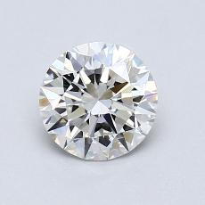 0,91-Carat Round Diamond Ideal H VVS1