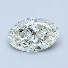 1.00-Carat Oval Diamond Very Good K VVS1