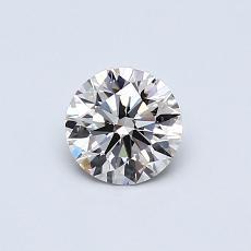0.50-Carat Round Diamond Ideal I VVS2