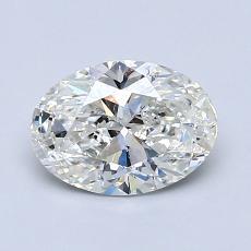 推荐宝石 1:1.02克拉椭圆形切割钻石