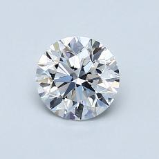 0.75 Carat 圆形 Diamond 理想 E VS1