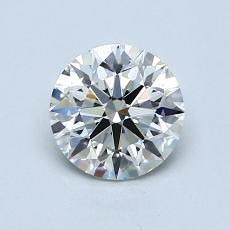 1.00-Carat Round Diamond Ideal I VVS1
