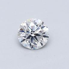 0.50-Carat Round Diamond Very Good F SI1