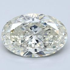 3.00-Carat Oval Diamond Very Good K SI2