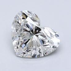 1,50-Carat Heart Diamond Very Good F SI2