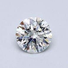 0.72-Carat Round Diamond Ideal H SI1