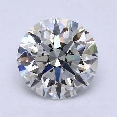 2.07-Carat Round Diamond Ideal G VVS1