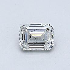 0,50-Carat Emerald Diamond Good F SI2
