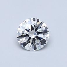 0.50-Carat Round Diamond Ideal E VS2
