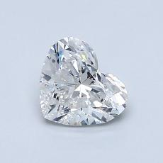 0.80-Carat Heart Diamond Very Good G SI2