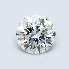 0,71 Carat Rond Diamond Idéale H IF