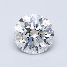 1.00 Carat 圆形 Diamond 理想 E VVS2