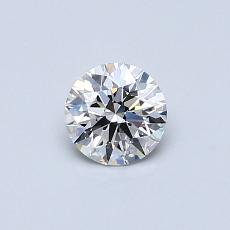 0.43-Carat Round Diamond Ideal E VS1