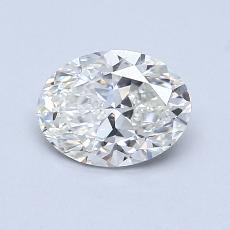 0.90-Carat Oval Diamond Very Good I SI1