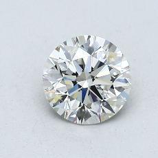 0.70-Carat Round Diamond Ideal H VVS1