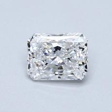 0.60-Carat Radiant Diamond Very Good D VVS1
