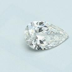 0.55-Carat Pear Diamond Very Good G VVS1