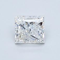 1.00 Carat 公主方形 Diamond 良好 D VVS2