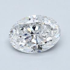 1.20 Carat 椭圆形 Diamond 非常好 D VS1