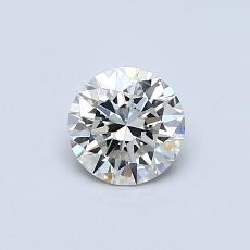 0.50-Carat Round Diamond Ideal K VVS2