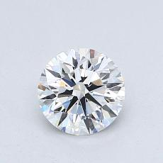 0.76-Carat Round Diamond Ideal D VVS2